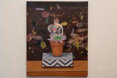 Sitting Bull Succulent, acrylic painting on canvas by Adam Newton