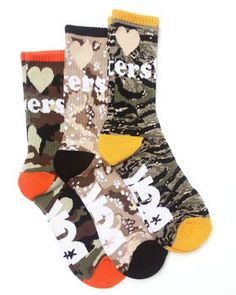 Buy Haters Camo 3-Pack Crew Socks Men's Accessories from DGK. Find DGK fashions & more at DrJays.com