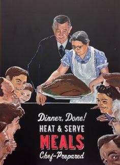 Norman Rockwell Chalkboard art at whole foods market Arlington. By Elissa Surabian.