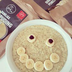 Vaníliás-quinoás chia kása Oatmeal, Breakfast, Food, The Oatmeal, Morning Coffee, Rolled Oats, Essen, Meals, Yemek