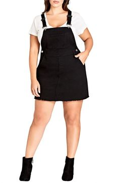 Plus Size Women's City Chic Denim Overall Dress, Size X-Small – Blue Plus Size Women's City Chic Denim Overall Dress, Size Large – Black Curvy Girl Fashion, Plus Size Fashion, Trendy Plus Size, Plus Size Women, Summer Dress Outfits, Casual Dresses, Fall Outfits, Denim Overall Dress, Engagement Outfits