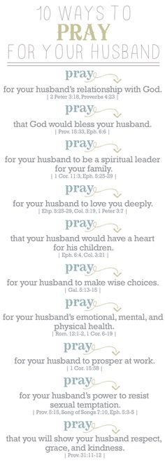 Praying for my husband.