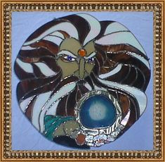 Wizard Stained Glass Painting
