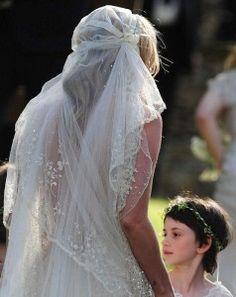 Kate Moss hippie wedding veil