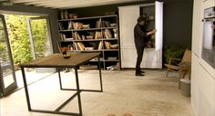 Look! A Peek into Nigel Slater's New Cooking Show Kitchen Larder Cupboard, Nigel Slater, Kitchen Views, New Cooking, Cottage Interiors, Stone Flooring, Updated Kitchen, Home Kitchens, House Styles