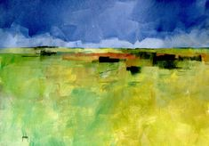 Original mixed media landscape painted with the finest quality Winsor and Newton artist paints, and FW acrylic (pigmented) inks, on Langton