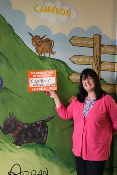 Kay from Kibble, one of Scotland's oldest charities supporting children in foster care, celebrating fostering in Scotland day #FCF2015
