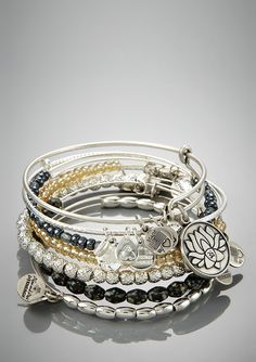 alex & ani... I own my fair share of the stackable bracelets... bought them as treat for myself when I visited Boston last summer... YOU WILL LOVE THEM!