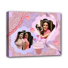 ribbon & lace 10x8 stretched canvas by Ivelyn  Insert your own photos