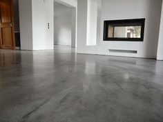 01 Boden in Betonoptik Seidenglanz O Basement Flooring, Kitchen Flooring, Concrete Color, Fun Diy Crafts, House Inside, Floor Colors, Polished Concrete, Floor Design, Living Room Modern