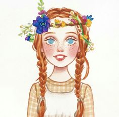 Anne Of Green Gables, Anne Green, Cute Girl Illustration, Gilbert And Anne, Amybeth Mcnulty, Anne White, Netflix, Anne Shirley, Cute Drawings