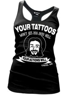 """Women's """"Your Actions"""" Tank by Cartel Ink (Black) InkedShop"""