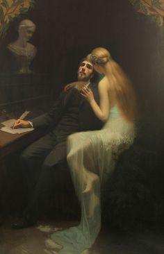 """♥ Gabriel de Cool → """"The Muse"""" (1895)"""