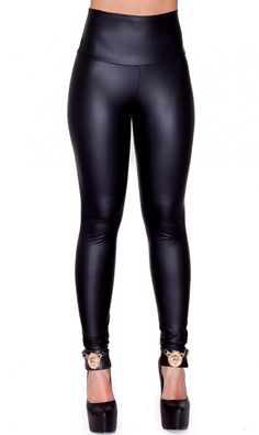 a996a6026d1 High Waisted Faux Leather PU Leggings in Black (Plus Sizes Available S-XXXL)