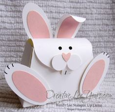 """Adorable Bunny, petite purse die, oval punch, 1/2"""" circle punch, owl builder punch, by Wendy Lee, #creativeleeyours, Stampin Up!,"""