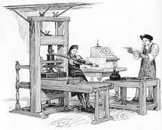 colonial printer | colonial printing press from colonial living written and illustrated ...