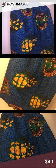 Beautiful High waist mid length skirt Brand Africa shirt with beautiful print Skirts Midi