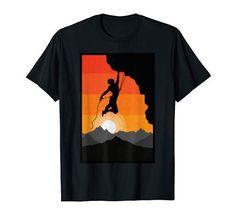 Vintage Rock, Retro Vintage, Rock Climbing, Sunset, Amazon, T Shirt, Sunsets, Supreme T Shirt, Amazons