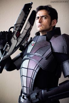 Commander Shepard (Mass Effect) - This is Mark Meer, the actual voice of Cmndr. Shepard.  He does this at Dragon*Con every year too.