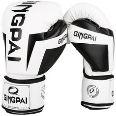 982414820 2017 New High Quality PU Leather White Professional Boxing Gloves Sanda  Muay Thai Boxing Training Fighting Gloves Luvas De Boxeo