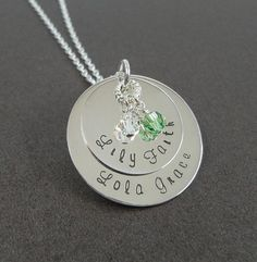 Sterling Silver Hand Stamped Layered Necklace - Personalized Jewelry - Granny Necklace