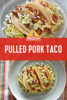 Mission Street Tacos Corn Tortillas are where flavors come to meet. Pile on the tender pulled pork— seasoned with smoky paprika for a spicy punch—then top it off with some tangy coleslaw. Who wouldn't love this dish?