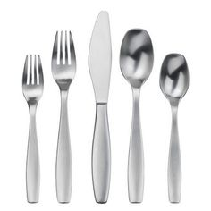 The satin-finish cousin to the Cruise pattern from Gourmet Settings, Non Stop flatware has sleek yet warm styling and a thoroughly modern functionality. Crafted from 18/10 stainless steel for luster and tarnish-resistance, the pattern features tapered handles with clean lines, a subtly rounded... see more details at https://bestselleroutlets.com/home-kitchen/kitchen-dining/dining-entertaining/flatware/product-review-for-gourmet-settings-non-stop-20-piece-flatware-set-service-