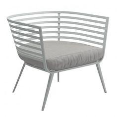 Schon Gloster   Vista Loungesessel   White/Seagull Einrichtungshaus, Garten  Terrasse, Außen Lounge