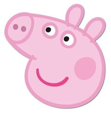 Peppa Pig Face Mask Peppa Pig Party Supplies Peppa Pig Birthday Peppa Pig Birthday Party