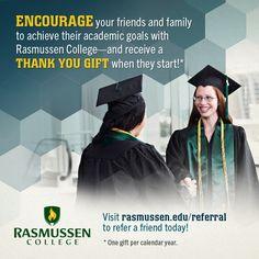 Excellent idea show that Rasmussen Spirit #RasSpirit #college #referral