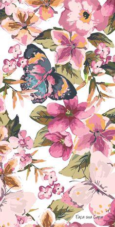 Arthouse Botanisch Songbird Tapete Blumenmuster Vögel Blumen Natur