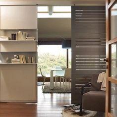 Cloison amovible séparation salon cuisine en bois | Industrial and ...