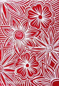 very simple lino print designs Sgraffito, Lino Print Artists, Linocut Prints, Art Prints, Batik Art, Linoprint, Simple Prints, Simple Flowers, Elements Of Art