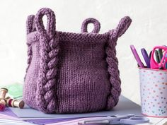 With this pattern by KnitanCrochetevraft you will lear how to knit a Knitting Pattern - Entangle Basket step by step. It is an easy tutorial about basket to knit with crochet or tricot. Knitting Kits, Baby Knitting Patterns, Knitting Needles, Knitting Projects, Easy Knitting, Velvet Acorn, Pattern Baby, Crochet Basket Pattern, Pattern Sewing