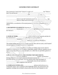 Construction contract template construction agreement form books construction contract template construction agreement form flashek Image collections