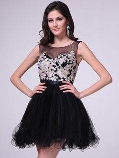 Embroidery Illusion Sweetheart Short Prom Dress