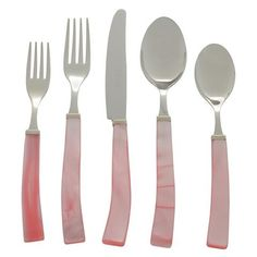5 Piece Place Setting of Via Veneto in Pink