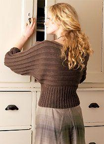 pull manches chauve-souris à tricoter