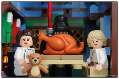 LEGO Turkey Dinner | Skywalker Family Fun / Lego Thanksgiving by DigiNik13