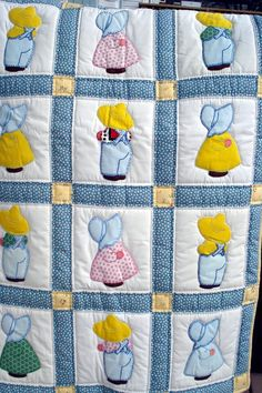 Vintage Sunbonnet Sue and Overall Sam Quilt