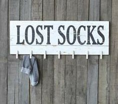 Lost Sock Laundry Room Sign, Tray with Wire Stand and Vintage Style Cheese Label, Feed Sack Red Striped Table Runner, Vintage Style Numbered...