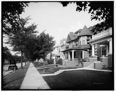 North Boulevard residences, Detroit, Mich., 1908