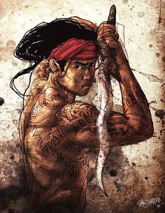 Amazing painting of Eskrima Warrior