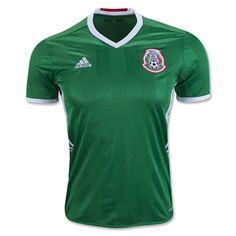 adidas 2016 Mexico Home Jersey (Green/White)