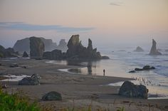 Bandon, Oregon beach -- my husband took this picture (copyrighted).