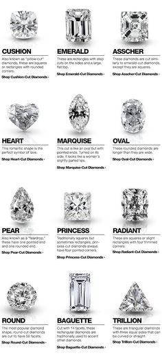 Shop diamonds by shape with tips from the http://Overstock.com Diamond Buying Guide