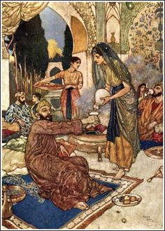 "EDMUND DULAC - illustration for the plate 13 of the ""Rubáiyát of Omar Khayyám"""