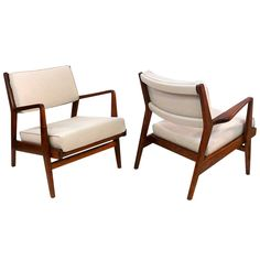 Pair of Jens Risom Walnut Armchairs   From a unique collection of antique and modern armchairs at http://www.1stdibs.com/furniture/seating/armchairs/
