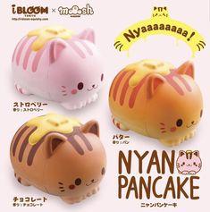 Super jumbo pancake kitty ibloom squishies