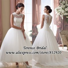 New Arrival Vintage Audrey Hepburn Puffy Ankle Length Short Wedding Dresses With Long Train $139.00